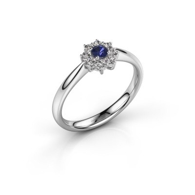 Picture of Engagement ring Carolyn 1 925 silver sapphire 3 mm