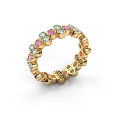 Ring Victoria 375 gold pink sapphire 2.4 mm