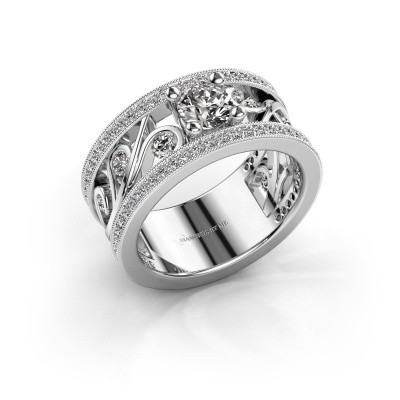 Ring Sanne 585 witgoud zirkonia 5 mm