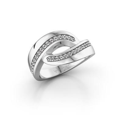 Ring Sharita 925 zilver zirkonia 1.2 mm