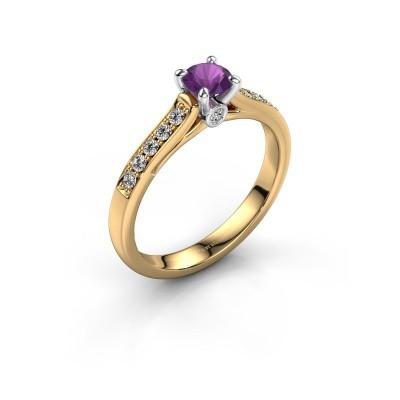 Verlovingsring Valorie 2 585 goud amethist 4.7 mm
