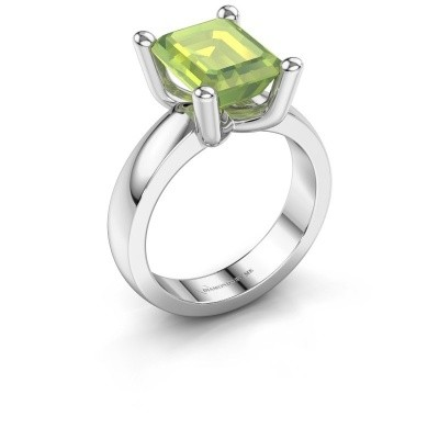 Ring Clelia EME 585 white gold peridot 10x8 mm