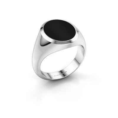 Picture of Signet ring Herman 4 950 platinum onyx 15x12 mm