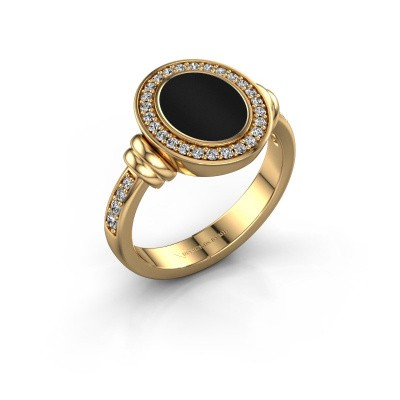 Siegelring Bailey 585 Gold Onyx 10x8 mm