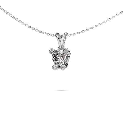 Picture of Necklace Cornelia Heart 585 white gold diamond 0.82 crt