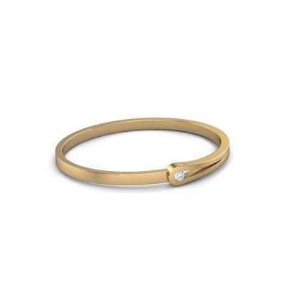 Bracelet jonc Kiki 585 or jaune diamant 0.25 crt
