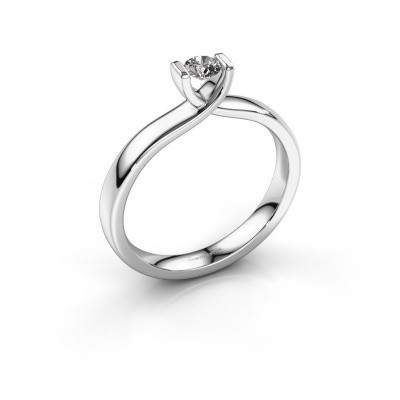 Foto van Verlovingsring Noor 585 witgoud lab-grown diamant 0.20 crt