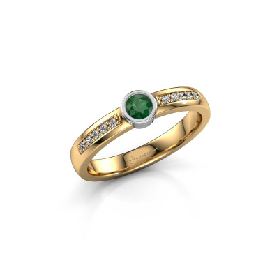 Engagement ring Ise 2 585 gold emerald 3.7 mm