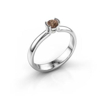 Foto van Verlovingsring Ophelia 585 witgoud bruine diamant 0.25 crt