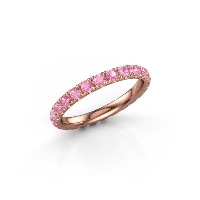 Foto van Ring Jackie 2.3 375 rosé goud roze saffier 2.3 mm