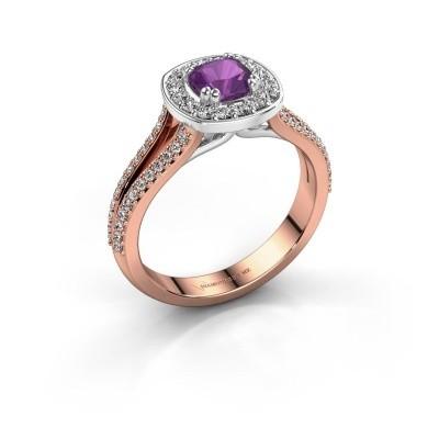 Engagement ring Carolina 2 585 rose gold amethyst 5 mm