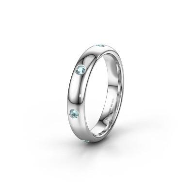 Wedding ring WH0105L34BP 925 silver aquamarine ±0.16x0.08 in