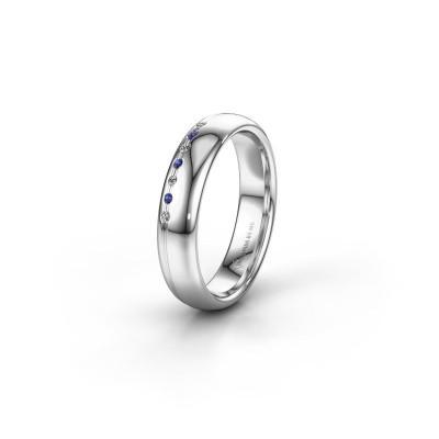 Friendship ring WH2144L34A 925 silver sapphire ±4x1.7 mm
