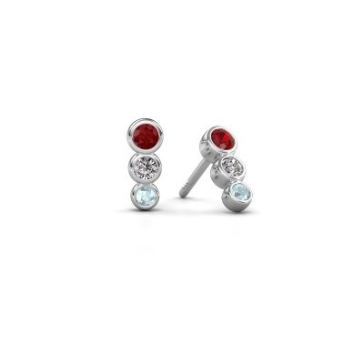 Picture of Earrings Felica 585 white gold ruby 2.7 mm