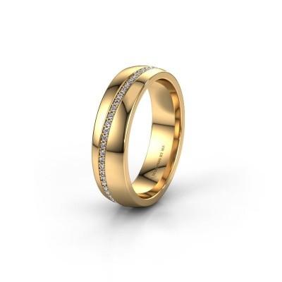 Trouwring WH0109L25A 585 goud diamant ±5x1.7 mm