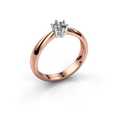 Verlovingsring Fay 585 rosé goud diamant 0.25 crt