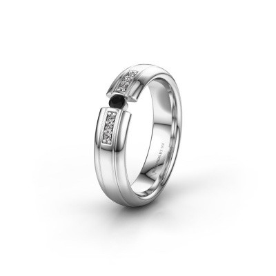 Wedding ring WH2128L26C 950 platinum black diamond ±5x2 mm