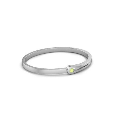 Bangle Kiki 950 platinum peridot 4 mm