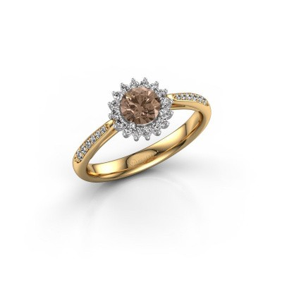 Engagement ring Tilly RND 2 585 gold brown diamond 0.50 crt