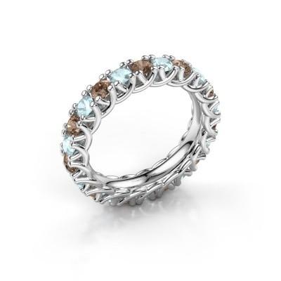 Foto van Ring Fenna 925 zilver bruine diamant 1.10 crt