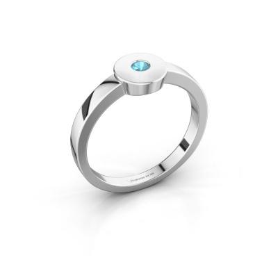 Ring Elisa 585 white gold blue topaz 3 mm
