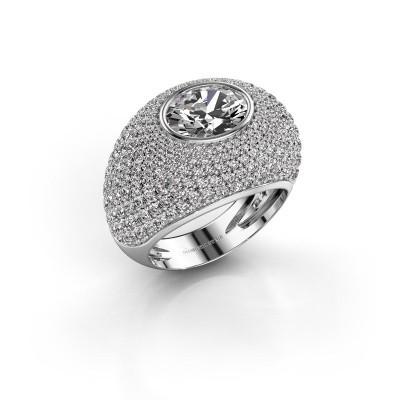 Foto van Ring Armida 950 platina diamant 1.80 crt