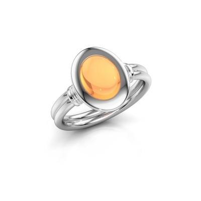 Foto van Ring Brittni 950 platina citrien 9x7 mm