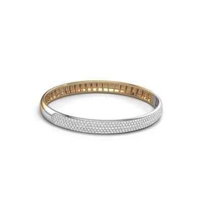 Foto van Slavenarmband Emely 7mm 585 goud lab-grown diamant 2.013 crt