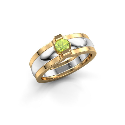 Ring Jade 585 Weißgold Peridot 4 mm