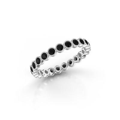 Foto van Ring Mariam 0.03 950 platina zwarte diamant 0.828 crt