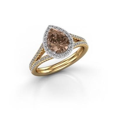 Foto van Verlovingsring Elenore 2 585 goud bruine diamant 1.337 crt