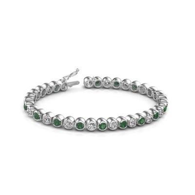 Bild von Tennis Armband Bianca 585 Weißgold Smaragd 4 mm