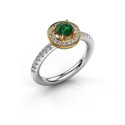Picture of Ring Christine 585 white gold emerald 5 mm