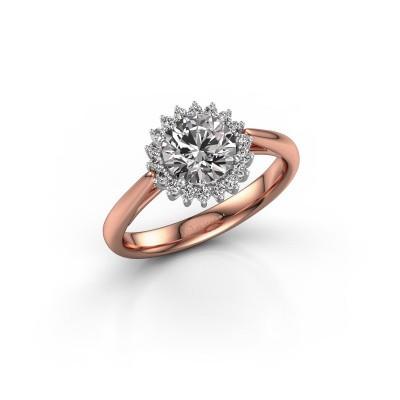 Bild von Verlobungsring Tilly RND 1 585 Roségold Diamant 1.00 crt