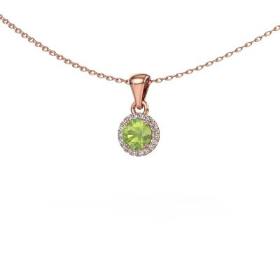 Picture of Pendant Marty 375 rose gold peridot 4.7 mm