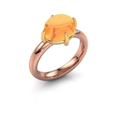 Ring Melodee 585 rosé goud citrien 10x8 mm
