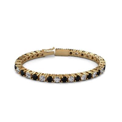 Picture of Tennis bracelet Karin 5 mm 375 gold black diamond 18.70 crt