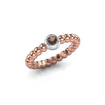 Picture of Stackable ring Dini 585 rose gold smokey quartz 3 mm