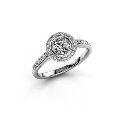 Verlovingsring Noud 2 RND 585 witgoud diamant 0.69 crt