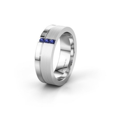 Wedding ring WH0327L16B 950 platinum sapphire ±0.24x0.08 in