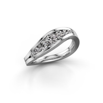 Ring Sigrid 2 585 witgoud lab-grown diamant 0.594 crt