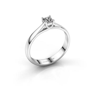 Bague de fiançailles Mia Square 950 platine diamant 0.17 crt