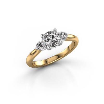 Picture of Engagement ring Lieselot RND 585 gold zirconia 6.5 mm