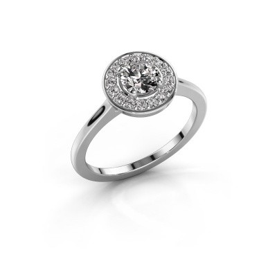 Ring Agaat 1 950 platina zirkonia 5 mm