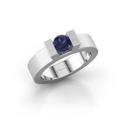 Picture of Ring Leena 1 585 white gold sapphire 5 mm