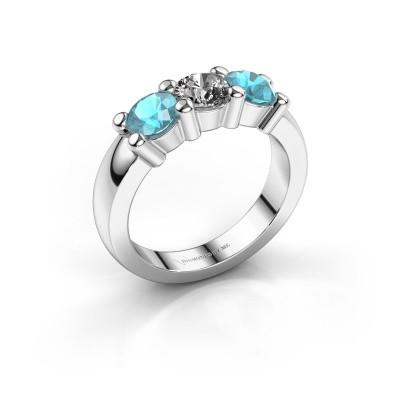 Verlobungsring Yasmin 3 585 Weißgold Diamant 0.40 crt