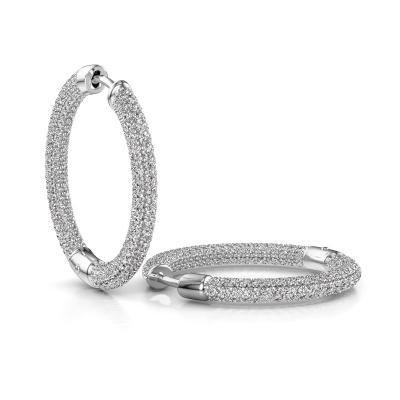 Foto van Creolen Hope 20mm 585 witgoud diamant 3.457 crt