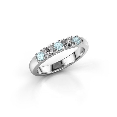 Picture of Ring Rianne 5 925 silver aquamarine 2.7 mm