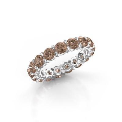 Foto van Aanschuifring Heddy rnd 3.7 950 platina bruine diamant 3.40 crt