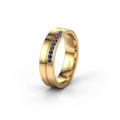 Trouwring WH0213L15AP 585 goud saffier ±5x1.7 mm